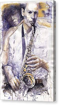 Jazz Muza Saxophon Canvas Print by Yuriy  Shevchuk