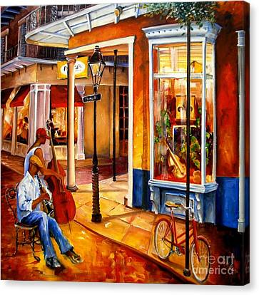 Jazz On Royal Street Canvas Print by Diane Millsap