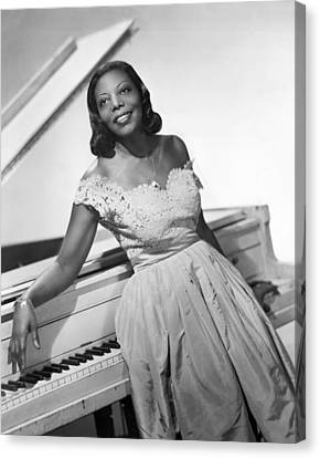 Jazz Pianist Mary Lou Williams Canvas Print by Underwood Archives