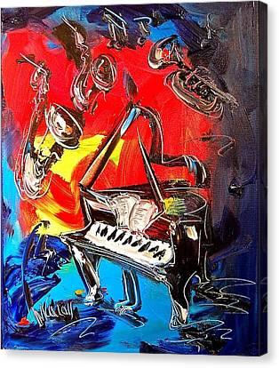 Jazz Piano Canvas Print by Mark Kazav