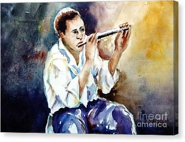 Jazz Player Canvas Print by Joyce A Guariglia