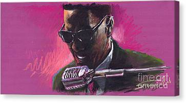 Jazz. Ray Charles.1. Canvas Print by Yuriy  Shevchuk
