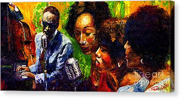 Face Canvas Print - Jazz  Ray Song by Yuriy  Shevchuk