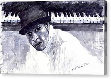 Roberto Canvas Print - Jazz Roberto Fonseca by Yuriy  Shevchuk