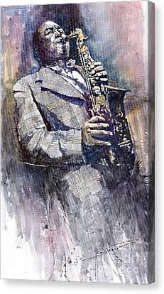 Parker Canvas Print - Jazz Saxophonist Charlie Parker by Yuriy  Shevchuk