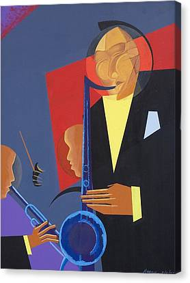 Performers Canvas Print - Jazz Sharp by Kaaria Mucherera