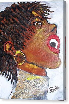 Jazz Singer Jade Canvas Print by Samuel Banks