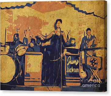 Jazz Singer Canvas Print by Pablo Franchi