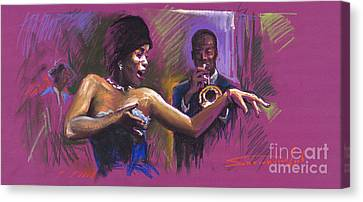 Jazz Song.2. Canvas Print by Yuriy  Shevchuk