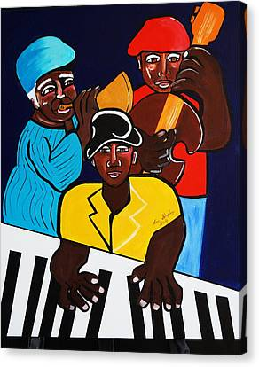 Jazz Sunshine Band Canvas Print