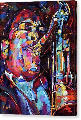Jazz Trane Canvas Print by Debra Hurd