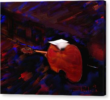 Jazz Tribute Louis Armstrong Canvas Print by Donald Pavlica