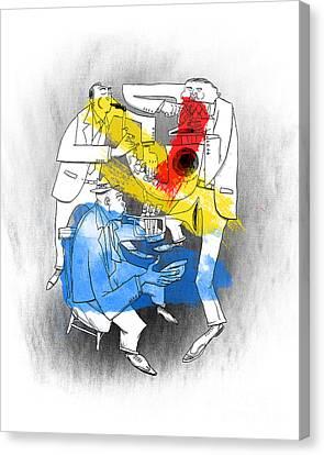 Jazz Trio Canvas Print by Sean Hagan