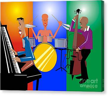 Jazz Trio Canvas Print by Walter Oliver Neal