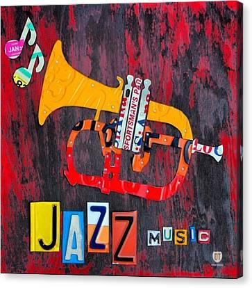 #jazz #trumpet #original #louisiana Canvas Print
