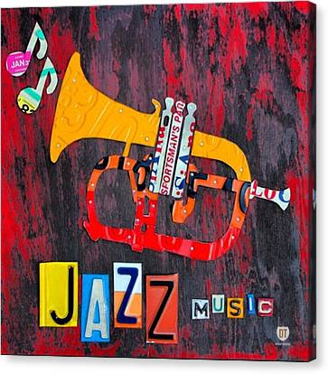 #jazz #trumpet #original #louisiana Canvas Print by Design Turnpike