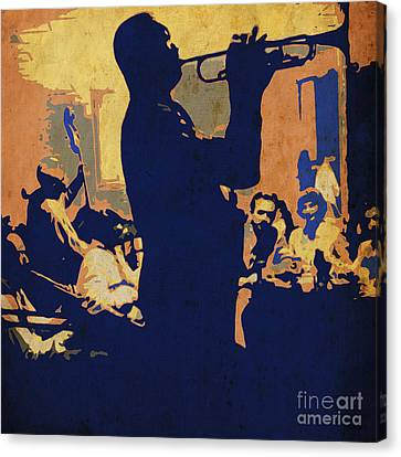 Jazz Trumpet Player Canvas Print by Pablo Franchi