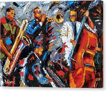 Jazz Unit Canvas Print by Debra Hurd