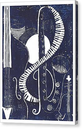Jazz Canvas Print by Ushma Sargeant