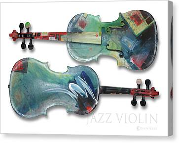 Jazz Violin - Poster Canvas Print by Tim Nyberg