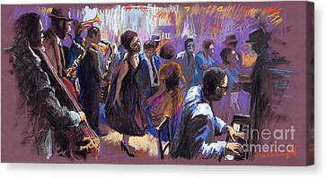 Jazz Canvas Print by Yuriy  Shevchuk