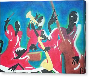 Jazz'en It Up Canvas Print