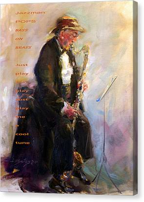 Jazzman Canvas Print by Ann Bailey