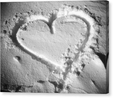 Winter Heart Canvas Print