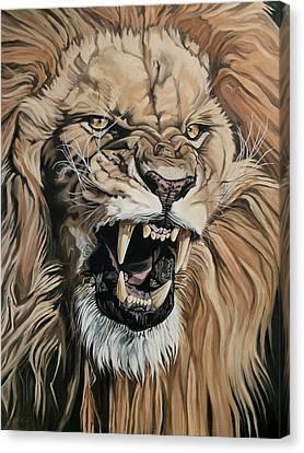 Jealous Roar Canvas Print by Nathan Rhoads