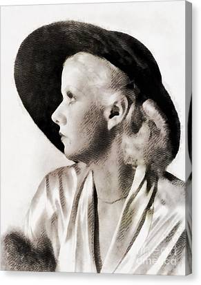 Jean Harlow, Vintage Actress Canvas Print by John Springfield