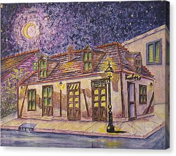 Jean Lafitte Blacksmith Shop Bourbon Street New Orleans Canvas Print by Catherine Wilson