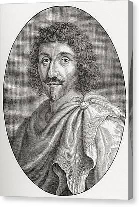 Balzac Canvas Print - Jean-louis Guez De Balzac, 1597 - 1654 by Vintage Design Pics