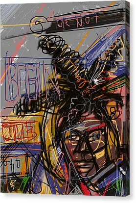Jean Michel Basquiat Canvas Print by Russell Pierce