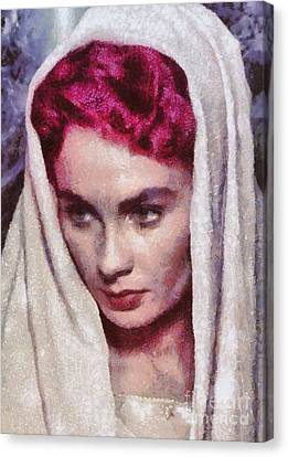 Jean Simmons, Vintage Hollywood Actress Canvas Print by Mary Bassett