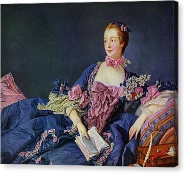 Jeanne Antoinette Poisson, Marquise De Canvas Print by Vintage Design Pics