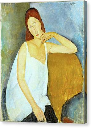 Jeanne Hebuterne Amedeo Modigliani 1919 Canvas Print by Movie Poster Prints