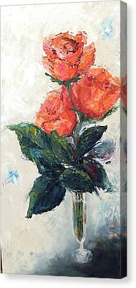Jeannie's Roses Canvas Print