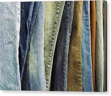 Jeans Canvas Print by Anna Villarreal Garbis
