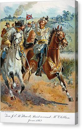 Jeb Stuarts Cavalry 1862 Canvas Print by Granger