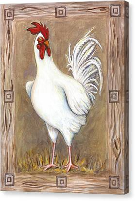 Jed The Rooster Canvas Print by Linda Mears