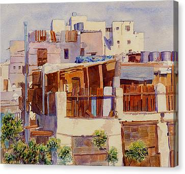 Jeddah Rooftops Canvas Print by Dorothy Boyer