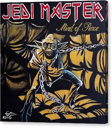 Jedi Master - Mind Of Peace Canvas Print by Tom Carlton
