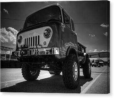 Jeep Forward Control 001 Bw Canvas Print by Lance Vaughn