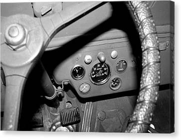 Jeep Gauges 2 Canvas Print by Gina  Zhidov