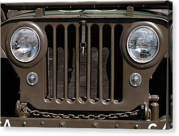 Jeep Grill Canvas Print by Dan Holm