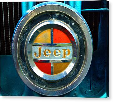 Jeep Logo 192 Canvas Print by Jeff Stallard