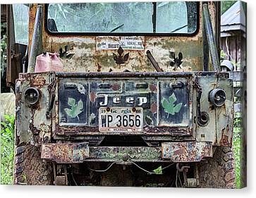 Jeep Made To Last Canvas Print by JC Findley