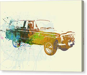 Woodies Canvas Print - Jeep Wagoneer by Naxart Studio