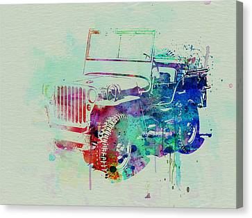Jeep Willis Canvas Print by Naxart Studio