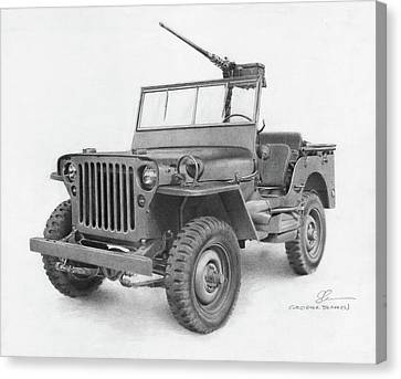 Jeep Willys Canvas Print by Christopher Bracken